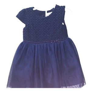 Beautiful navy blue dress and diaper cover